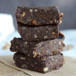 Double Chocolate Raw Vegan Brownies