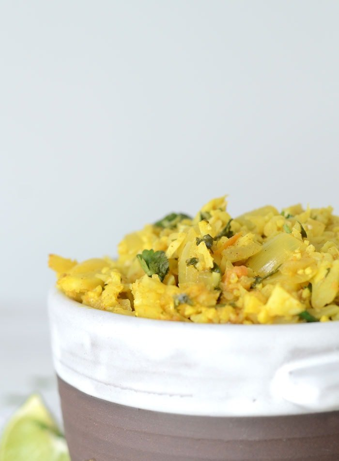 Healthy Vegan Cauliflower Coconut Dahl
