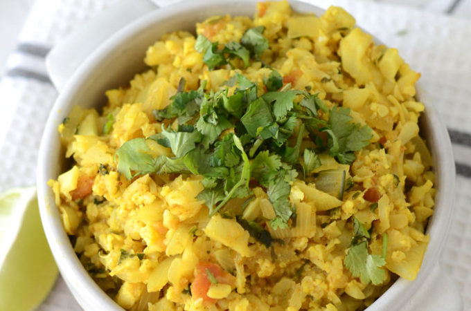 Healthy Vegan Cauliflower Coconut Dahl