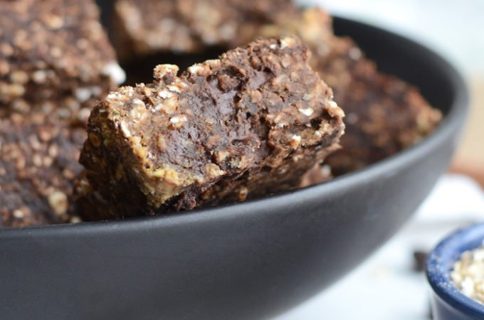 Vegan Chocolate Baked Oatmeal Bars
