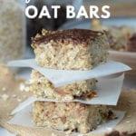 Vegan Banana Date Oat Bars - Running on Real Food