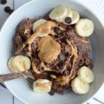 Brownie Batter Overnight Protein Oats - Vegan