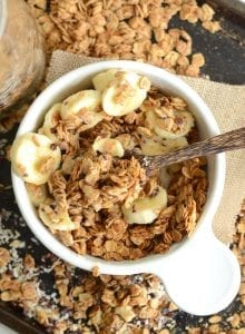 Super Simple Peanut Butter Granola