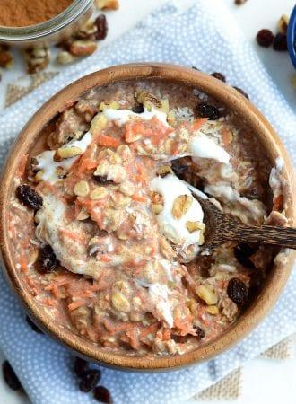 Vegan Carrot Cake Overnight Protein Oats