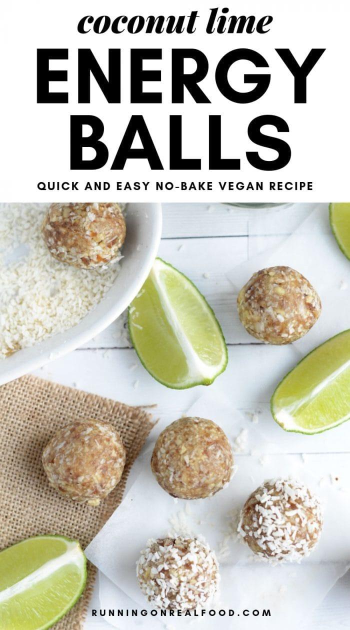 Coconut Lime Energy Balls