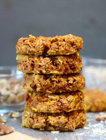 Vegan Turmeric Carrot Oatmeal Cookies