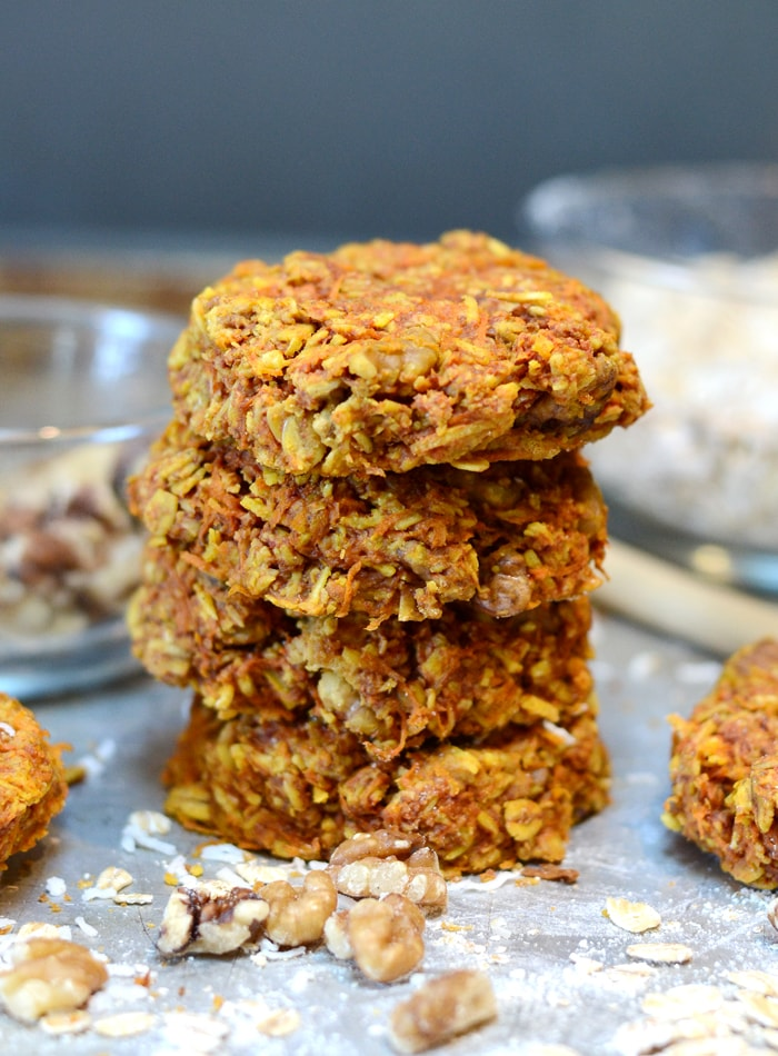 Carrot Oatmeal Cookies With Turmeric And Coconut Vegan