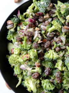 Vegan Broccoli Salad with Raisins