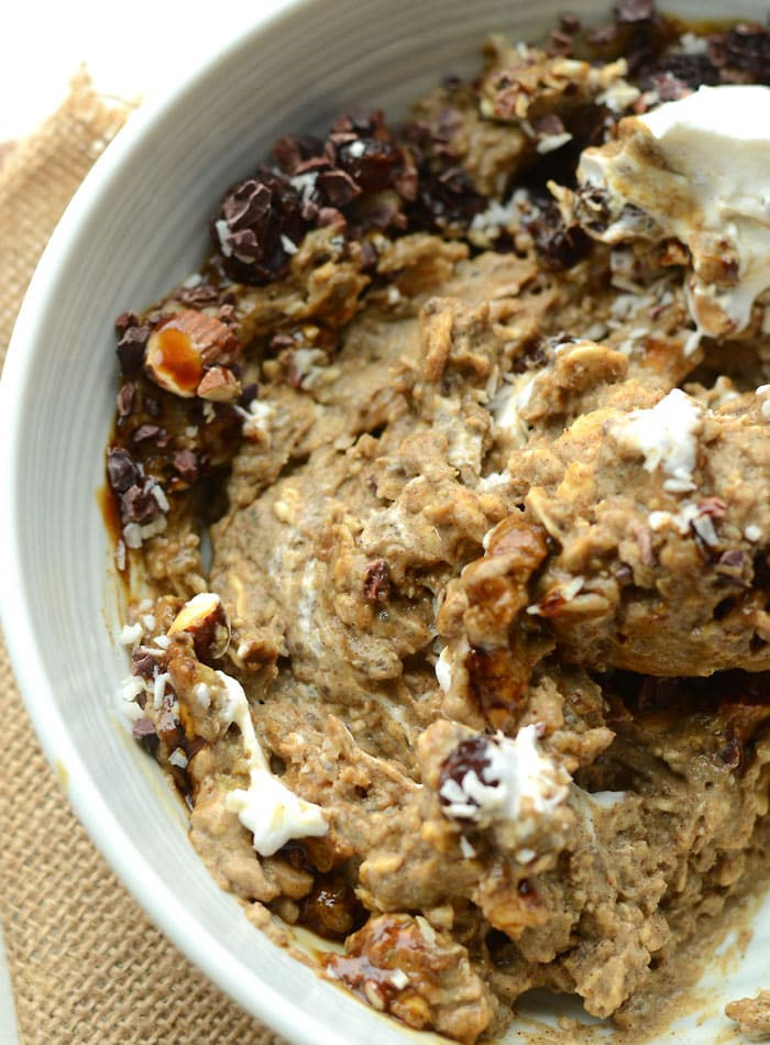 Chia Seed Gingerbread Overnight Oats with Protein   vegan, healthy, easy