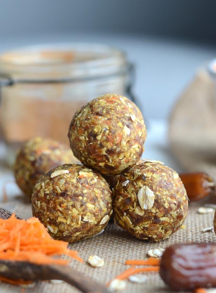 Carrot Cake Energy Balls Nut Free Gluten Free Vegan