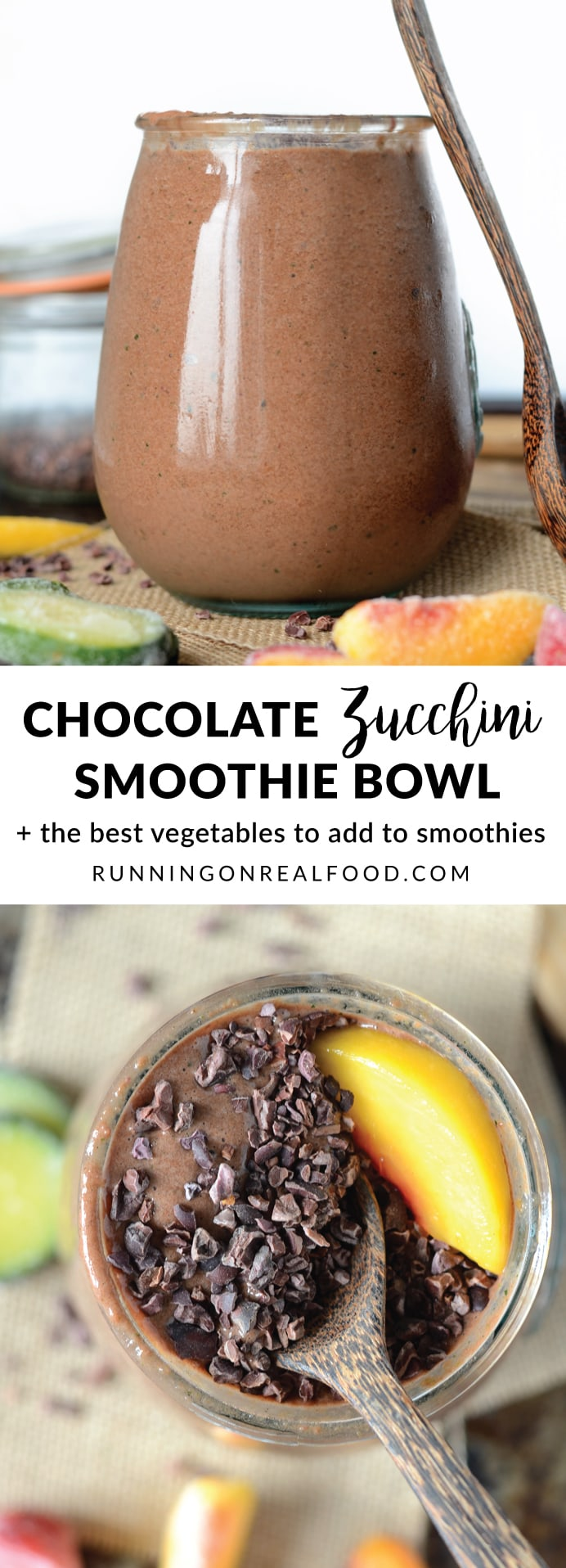 Check out the best veggies to add to smoothies plus try this thick, creamy and decadent, chocolate zucchini smoothie bowl made with simple, everyday, healthy ingredients! Vegan, low sugar, high protein.