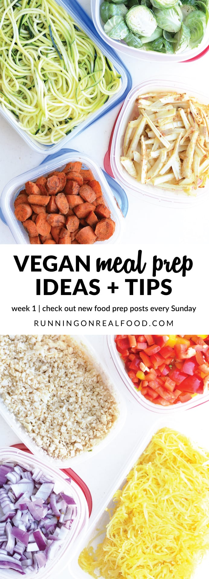 Food prep saves time, money and stress and is so important when it comes to healthy eating. Check out vegan meal prep ideas from week 1 (Week of May 29, 2017). New ideas, tips and inspiration every Sunday!