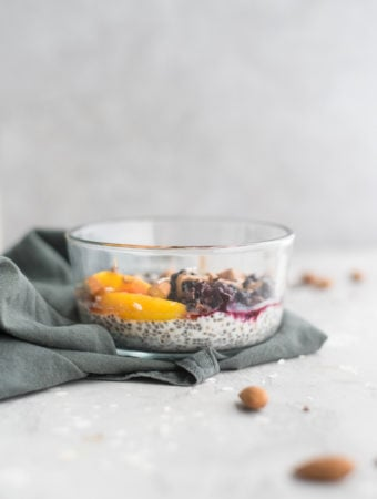 Vegan Coconut Chia Pudding Bowls - Running on Real Food