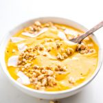 Vegan Turmeric Carrot Butternut Squash Smoothie Bowl Recipe - Running on Real Food