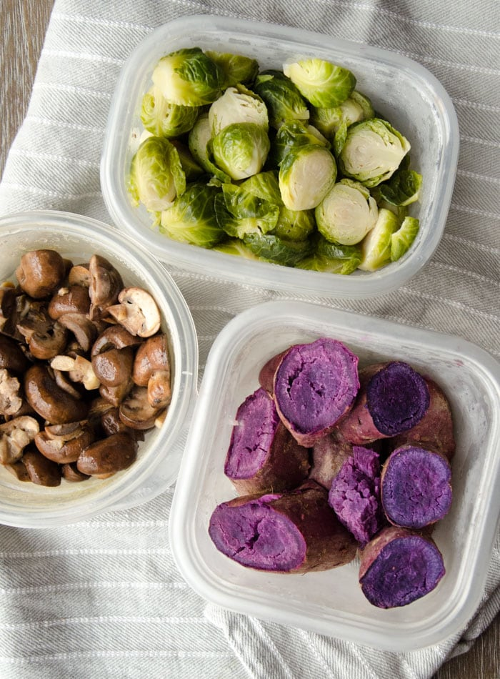 Vegan Meal Prep Ideas   Week 3   Lentil Beet Salad, Fat Balls and Tahini Dressing