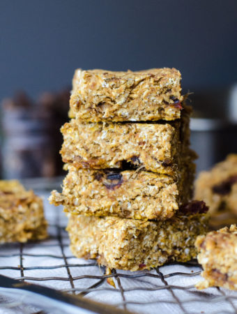Baked Pumpkin Oatmeal Bars