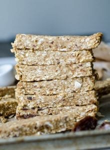 Vegan Coconut Banana Energy Bars | gluten-free, no-bake | Running on Real Food