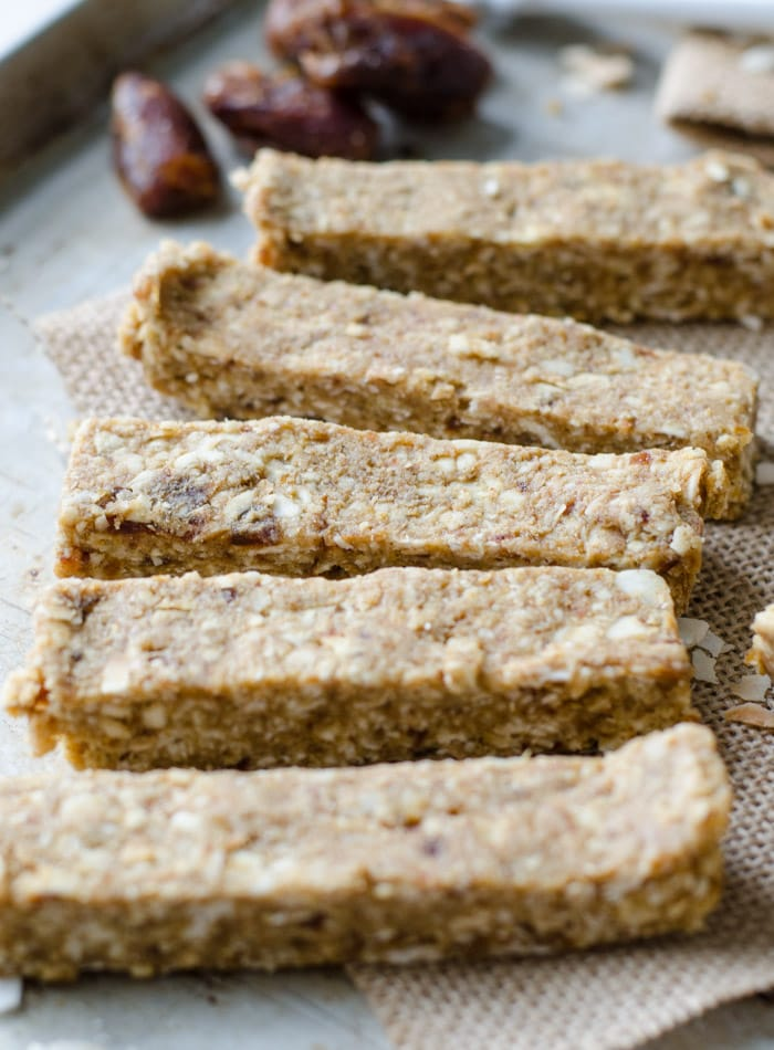 No-Bake Healthy Snack Bars with Banana and Coconut