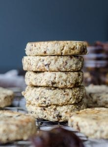 Vegan Tahini Date Cookies | just 3 ingredients, gluten-free, oil-free
