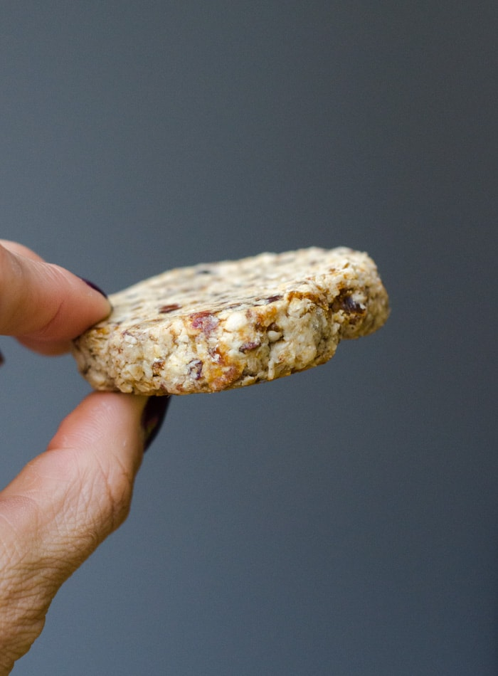 Vegan Tahini Date Cookies   just 3 ingredients, gluten-free, oil-free
