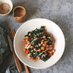 Kale and Chickpea Stir-Fry with Miso Peanut Sauce