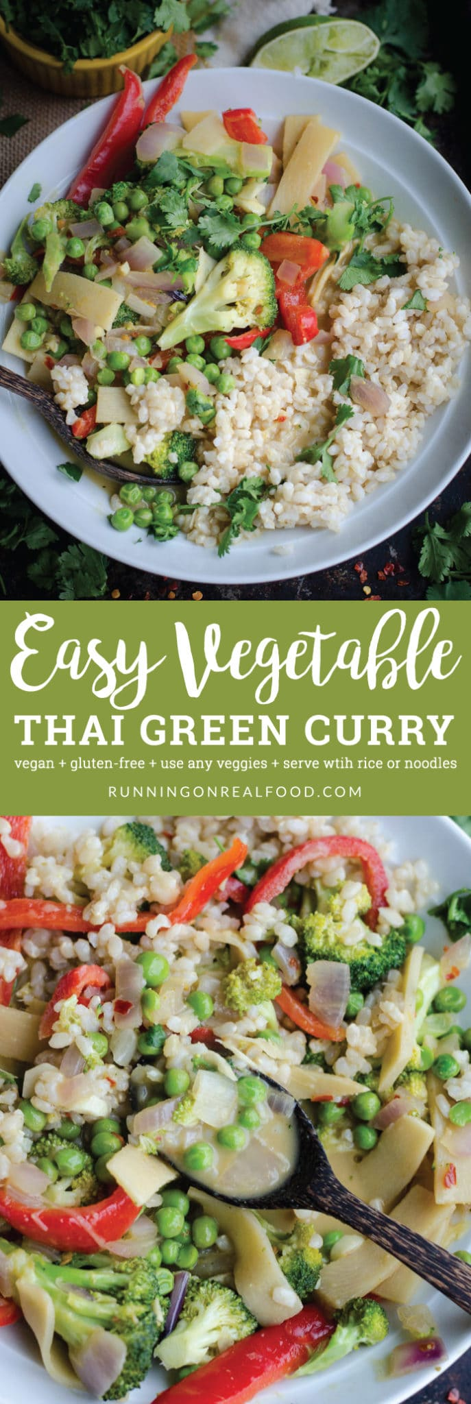 Easy Vegetable Thai Green Curry | vegan and gluten-free