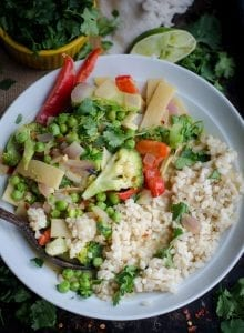 Healthy Easy Vegetable Green Curry | vegan + gluten-free | Running on Real Food