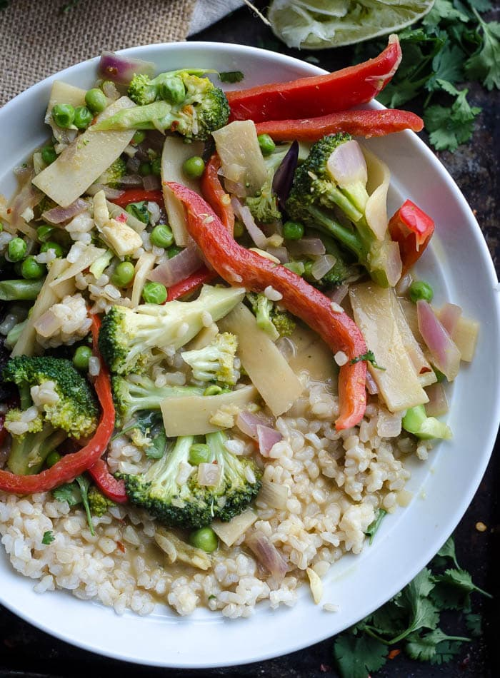 Healthy Easy Vegetable Green Curry   vegan + gluten-free   Running on Real Food