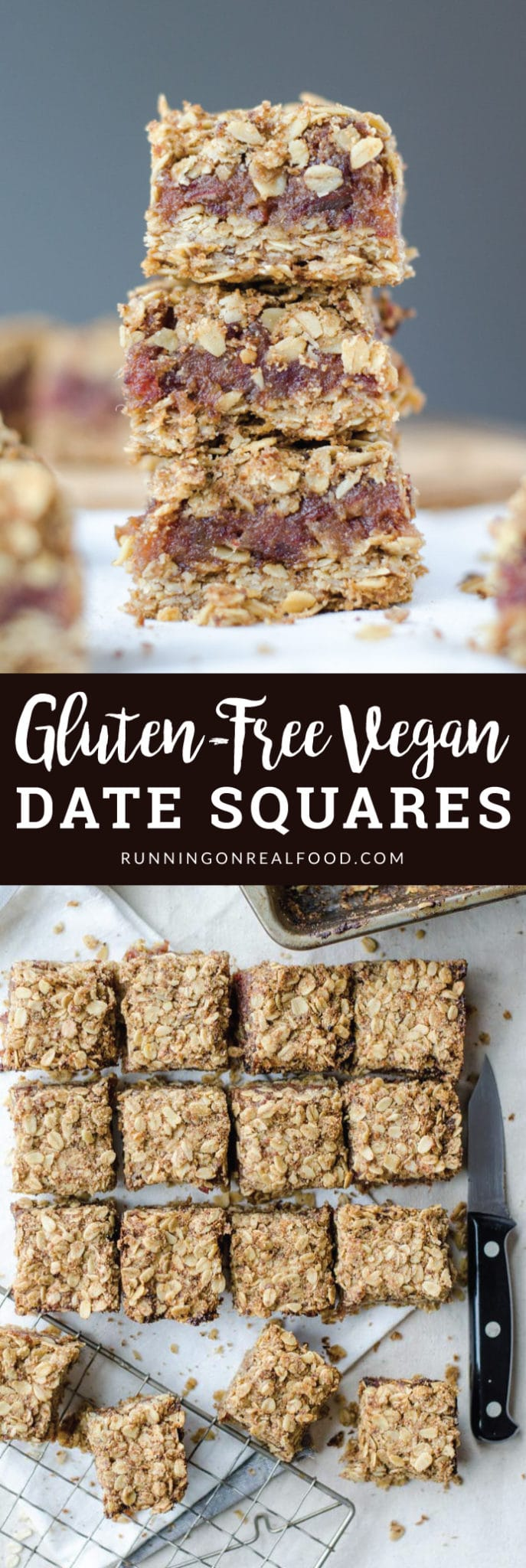These easy, gluten-free vegan date squares will be a holiday favourite and only require 4 ingredients to make: oats, dates, coconut oil and coconut sugar.
