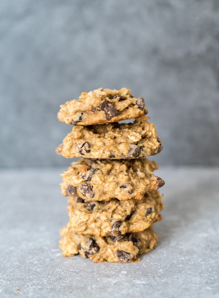 Vegan Peanut Butter Oatmeal Chocolate Chip Cookies