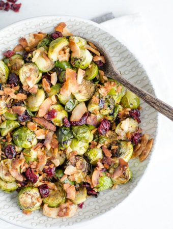 Roasted Brussel Sprouts with Balsamic Maple Glaze