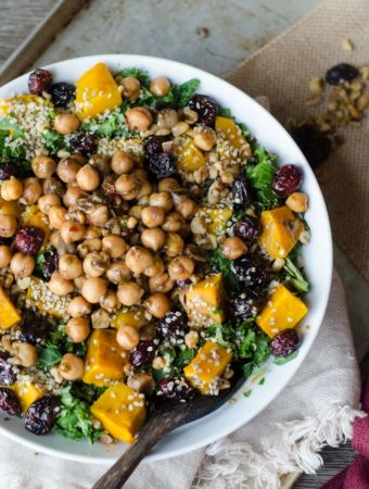 Roasted Squash Salad with Marinated Chickpeas