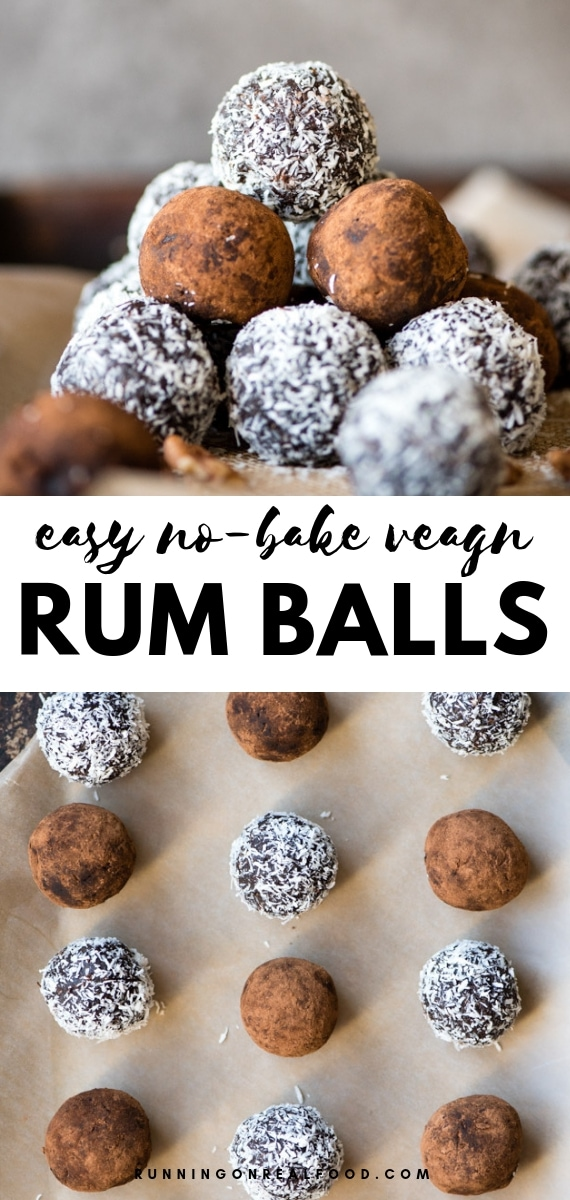 No-Bake Vegan Rum Balls. Easy to make with simple ingredients, perfect holiday recipe that's a healthier alternative to traditional rum balls.