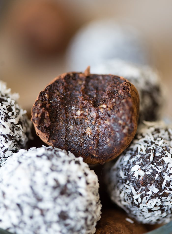 Vegan Rum Balls | gluten-free no-Bake | Running on Real Food