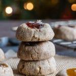 Gluten-Free Vegan Thumbprint Cookies made with Pecans