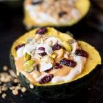 Stuffed Acorn Squash Breakfast Bowls Vegan and Gluten-Free