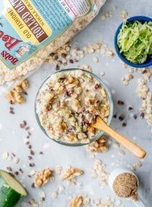 Healthy Vegan Chocolate Chip Zucchini Overnight Oats