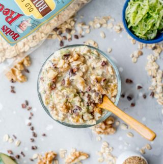 Healthy Vegan Chocolate Chip Zucchini Overnight Oats