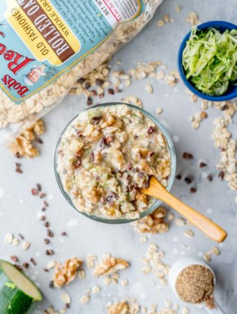 Chocolate Chip Zucchini Overnight Oats