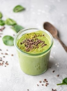 Vegan Mint Chocolate Chip Smoothie