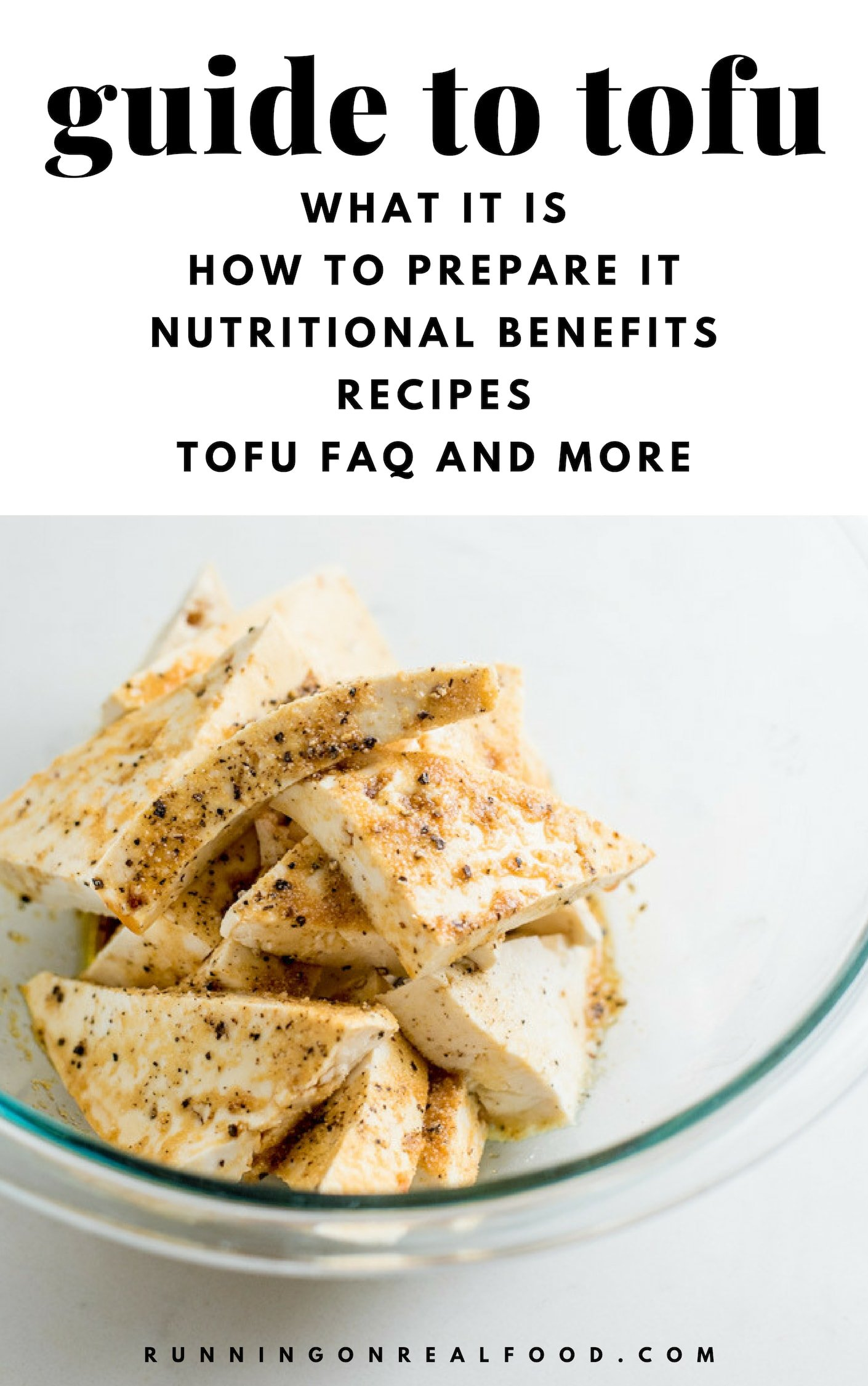 In this guide to tofu and tempeh, we learn all about the different types of tofu, what it is and how to use it in recipes. Tofu is a good source of protein, can be eaten on its own or used for everything from dressings, to desserts and baking, to tofu scrambles and more.