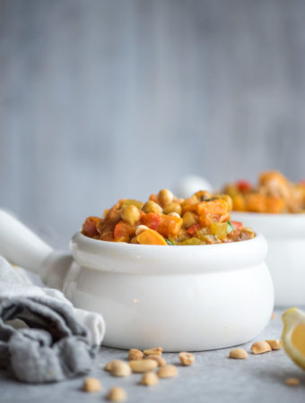 Moroccan Vegetable Peanut Stew with Sweet Potato