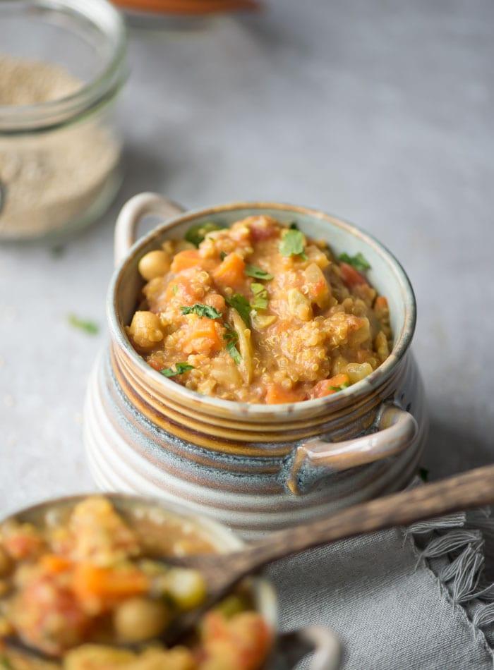 Gluten-Free Vegan Chickpea Quinoa Stew   Running on Real Food