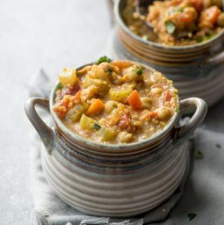Gluten-Free Vegan Chickpea Quinoa Stew | Running on Real Food