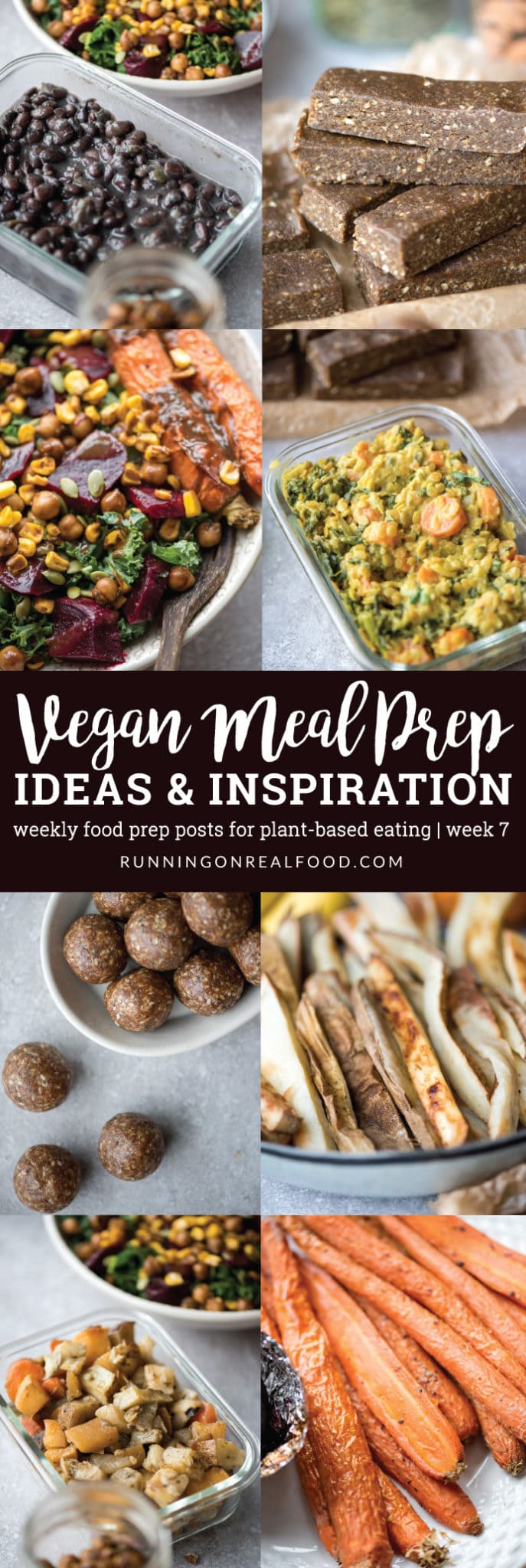 Vegan meal prep ideas including curried red lentils, homemade black beans, roasted beet salad, almond protein bars, oil-free baked fries and more. New posts weekly with ideas and inspiration for how to do a plant-based food prep.