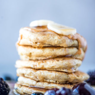 Vegan Quinoa Flour Pancakes | gluten-free, oil-free, sugar-free