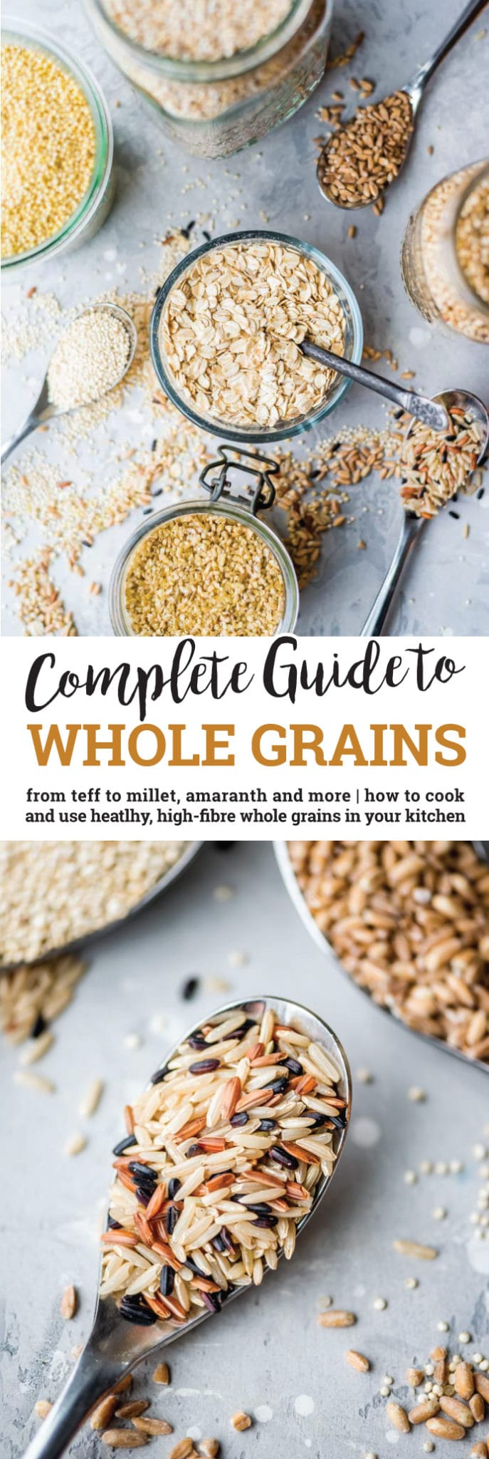 Everything you need to know about cooking and eating healthy, high-fibre, whole grains. High in vitamins, minerals and antioxidants and low in fat, whole grains are a wonderfully nutritious food to include in your diet. Plenty of gluten-free options!