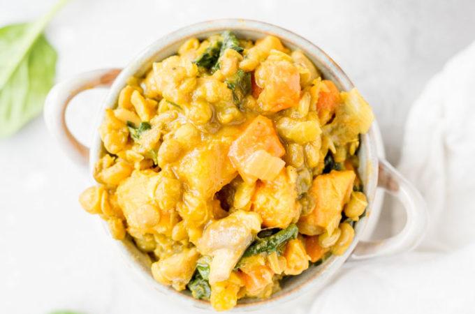 Curried Butternut Squash Lentil Stew