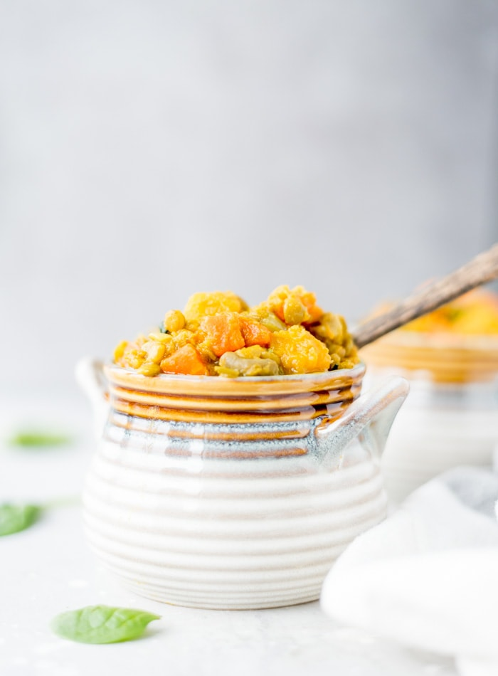 Vegan Curried Butternut Squash Lentil Stew