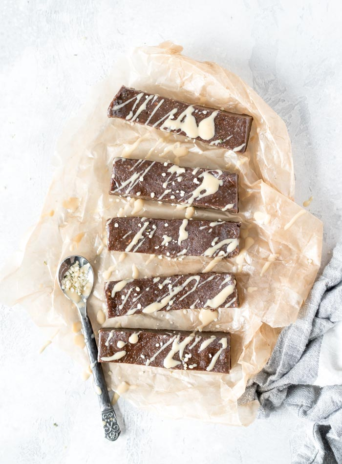 Nut-free gluten-free Vegan Chocolate Tahini Energy Bars